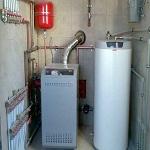 Напольный газовый двухконтурный котел 1