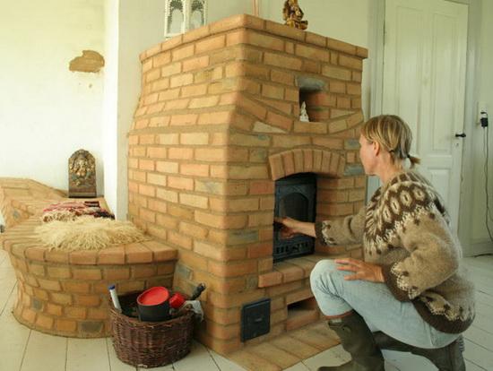 Финская печь для отопления дома - печь дровяная для деревянного дома 2
