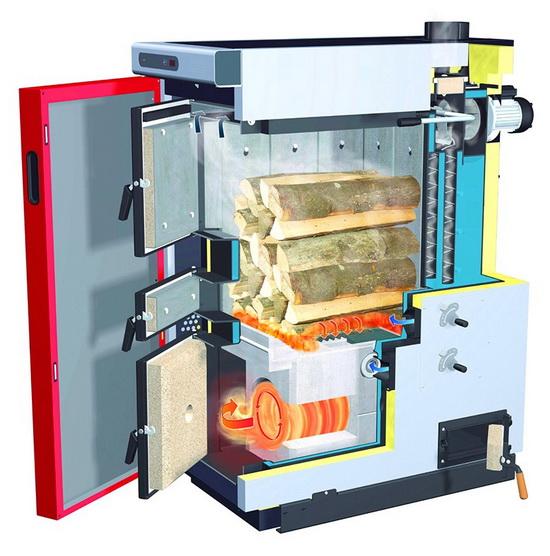 Получаем горячую воду от дров - используем двухконтурный твердотопливный котел длительного горения 3