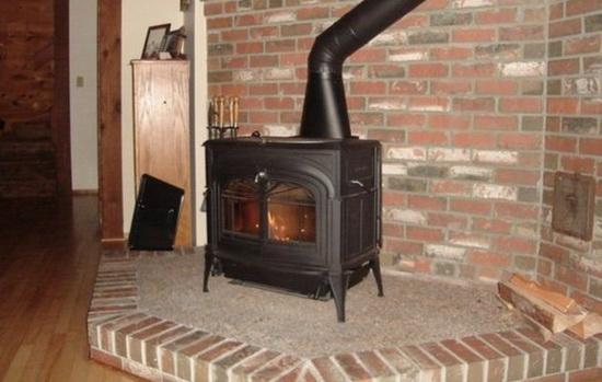 Чугунная печь камин для дачи длительного горения 3