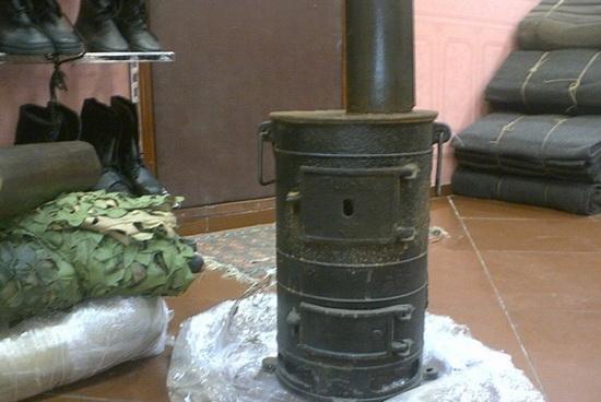Печь-буржуйка чугунная армейская ПОВ-57 2