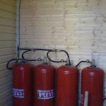 Автономное газовое отопление загородного дома баллонным газом 1