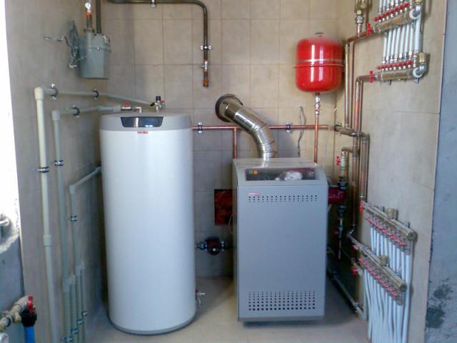 обвязка газового котла отопления схема 5
