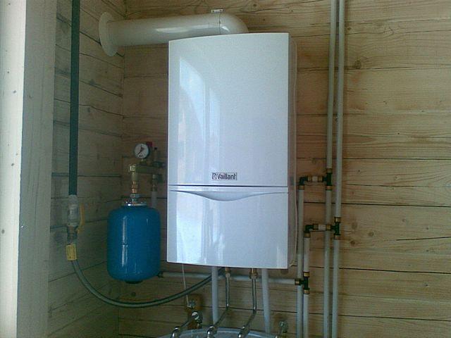схема отопления частного дома с газовым котлом 1