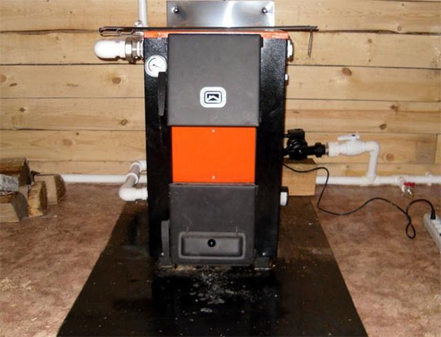 Комбинированные отопительные котлы - дрова электричество 5