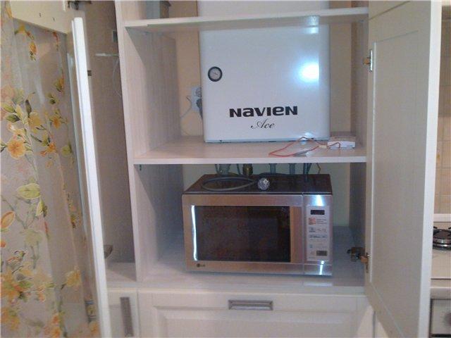 маленькая кухня дизайн фото 9 кв м с холодильником с котлом 3