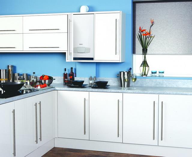 Как спрятать газовый котел на кухне - фото и идеи 1