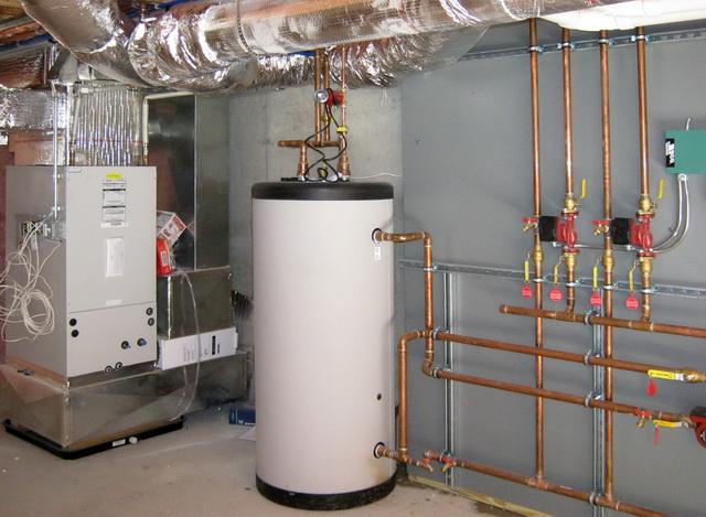 Бойлер косвенного нагрева (БКН) - схема подключения к газовому котлу 1