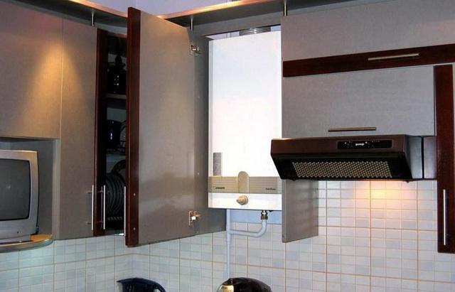 Газовый котел на кухне - как разместить и спрятать (фото) 7