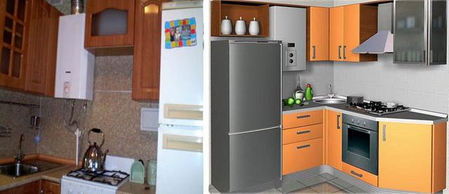 Газовый котел на кухне - как разместить и спрятать (фото) 10