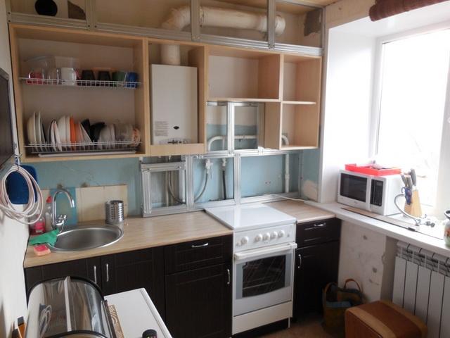 Как красиво закрыть газовый котел на кухне - фото 2