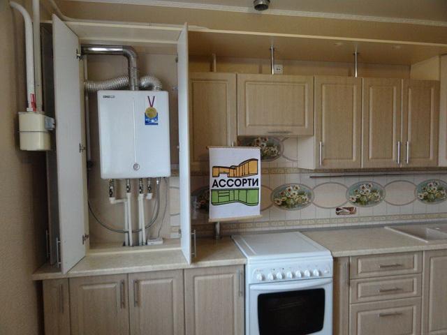 Как красиво закрыть газовый котел на кухне - фото 3