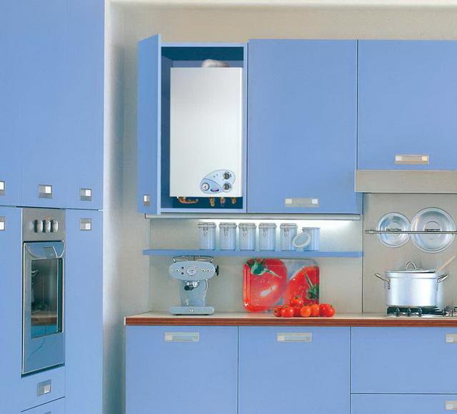 Как красиво закрыть газовый котел на кухне - фото 4