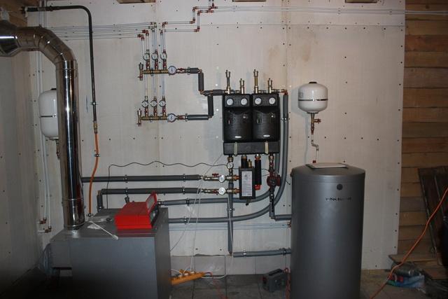Система отопления в частном доме – простая схема от газового котла 1