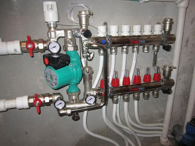 Водяной теплый пол от газового котла в доме своими руками 4