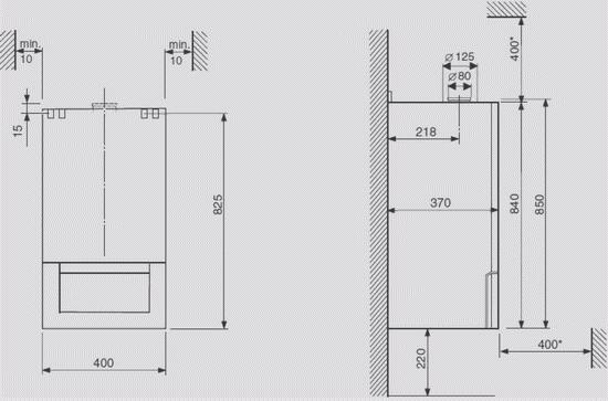 Расстояние дымохода до газового котла настенного дымоход внутри дома монтаж