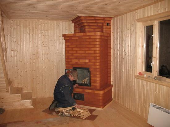 Финская печь для отопления дома - печь дровяная для деревянного дома 3