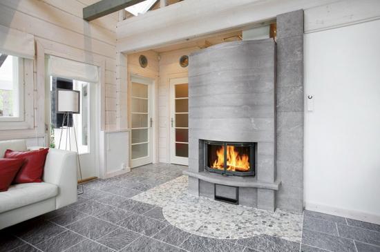 Финская печь для отопления дома - печь дровяная для деревянного дома 5