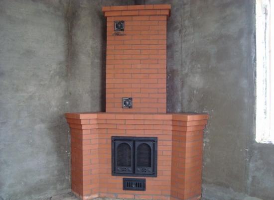 Угловая печь-камин своими руками