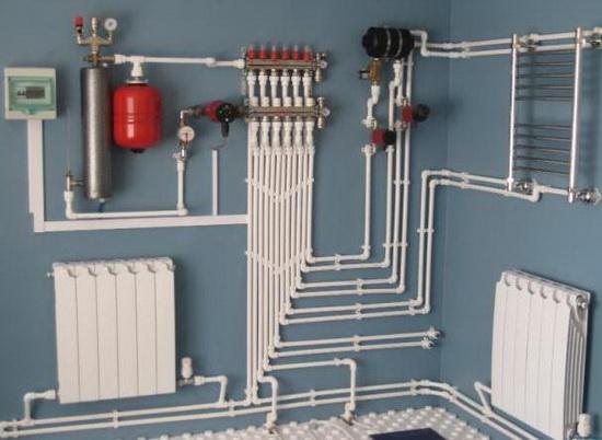 Схема отопления двухэтажного дома теплым полом фото 29