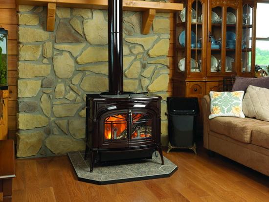 Чугунная печь камин для дачи длительного горения 2