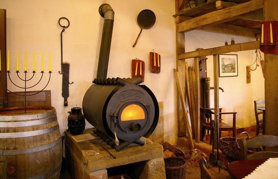 Чугунная печь камин для дачи длительного горения 5