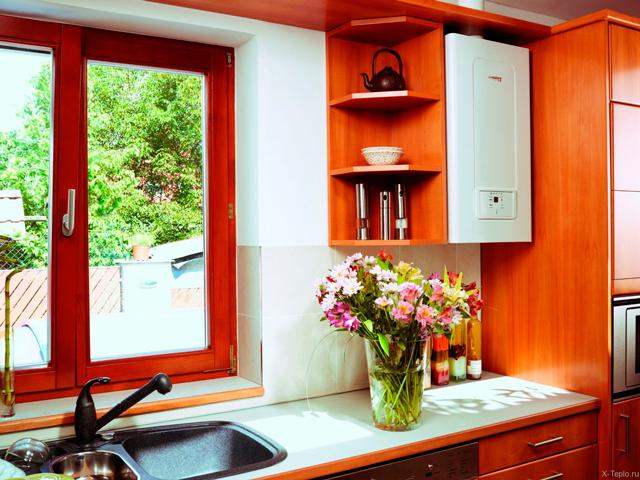 как спрятать напольный газовый котел на кухне в углу фото 3