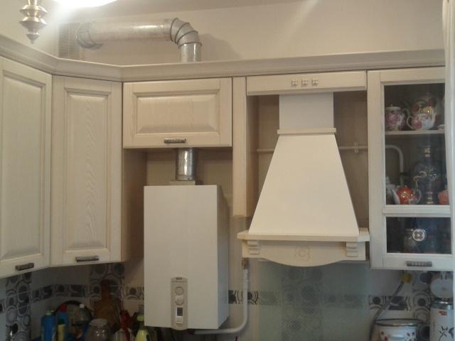 как спрятать напольный газовый котел на кухне в углу фото 5