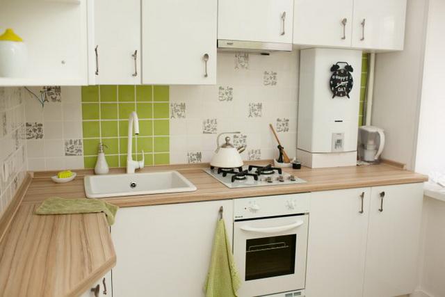 Как спрятать газовый котел на кухне - фото и идеи 10