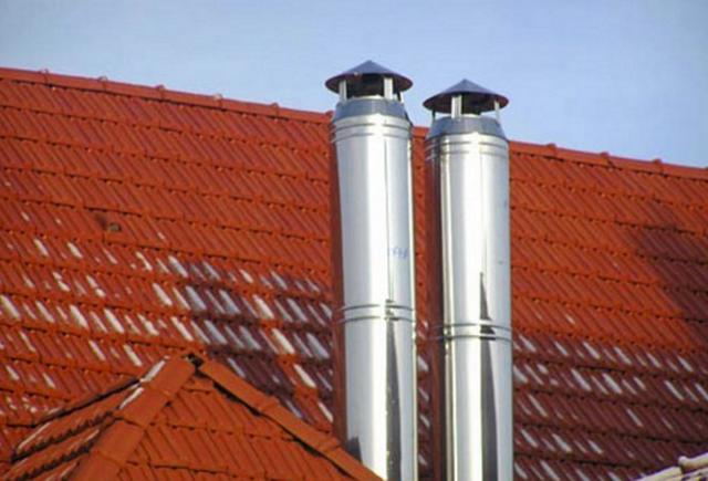 Как можно сделать дымоход для газового котла в частном доме своими руками 4