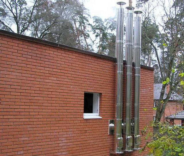 Дымоход для газового котла и вытяжная труба в частном доме 1