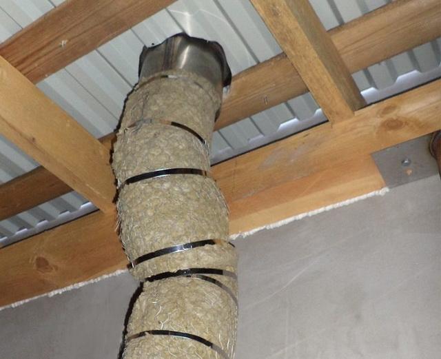 Дымоход для газового котла и вытяжная труба в частном доме 2