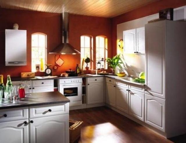 Газовый котел на кухне - как разместить и спрятать (фото) 3