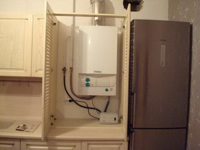Газовый котел на кухне - как разместить и спрятать (фото) 4