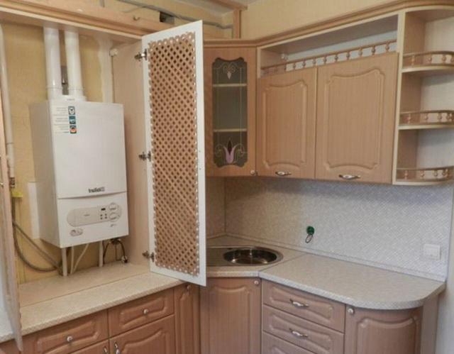 Газовый котел на кухне - как разместить и спрятать (фото) 6