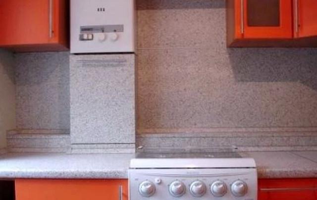 Газовый котел на кухне - как разместить и спрятать (фото) 8