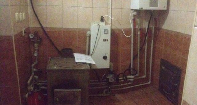 Схема подключения газового и твердотопливного котлов в одну систему